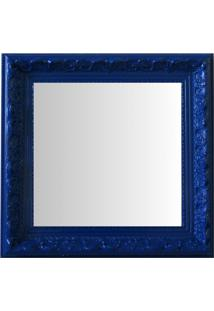 Espelho Moldura Rococó Raso 16233 Azul Art Shop