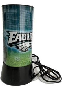 Luminária Rotativa 30Cm Nfl Philadelphia Eagles 120V - Unissex-Verde