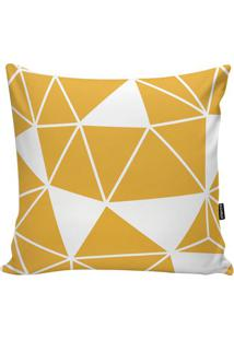 Capa Para Almofada Geometric- Amarela & Branca- 45X4Stm Home