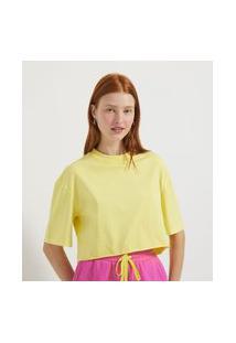 Blusa Cropped Lisa Em Algodão | Blue Steel | Amarelo | M
