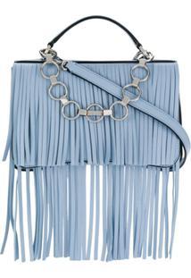 Emilio Pucci Bolsa Chance Bag Com Franjas - Azul