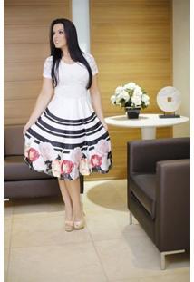 a19136fcb3f854 Vestido Rodado Social Floral