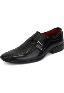 Sapato Social Rebento Bico Fino Verniz Preto