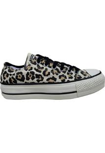Tênis Plataforma Converse All Star Chuck Taylor Lift Animal Print