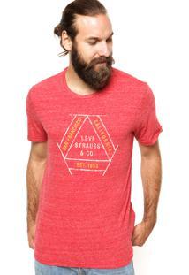 Camiseta Levis California Vermelha