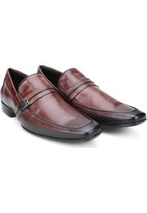 Sapato Social Couro Mariner Lance Masculino - Masculino-Marrom