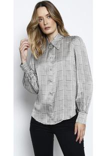 f308871c11 ... Camisa Amanda Gales Em Seda - Branca   Cinzale Lis Blanc