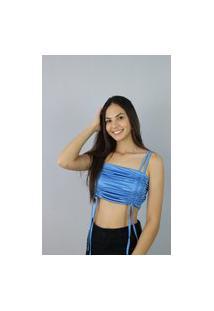 Blusa Cropped Azul Z