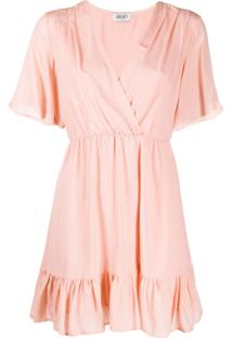 Liu Jo Wrap Front Gathered Detail Dress - Rosa