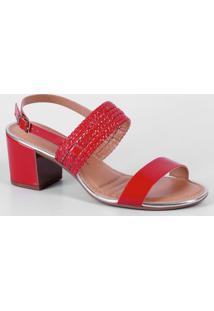 61d1ffb39 Sandália Dakota Vermelha feminina