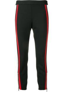 Alexander Mcqueen Side Stripe Skinny Trousers - Preto
