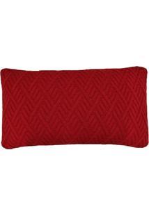 Capa Almofada Tricot 60X40Cm C/ZãPer Sofa Trico Cod 1025.3 Vermelho - Vermelho - Feminino - Dafiti