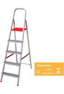 Escada Doméstica De Alumínio 5 Degraus Botafogo