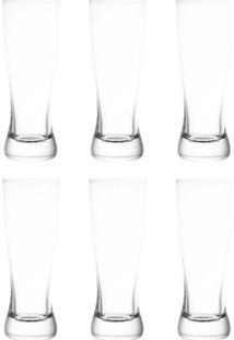 Conjunto De Copos Para Cerveja Com 6 Unidades Bohemia Incolor 210 Ml