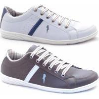 f29a061c75 Slip-On Casual Polo Blu Masculino - Masculino-Marrom+Branco