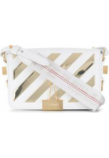 Off-White Bolsa Mini Diag Com Aba - Branco