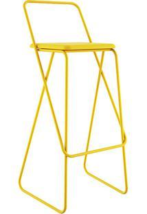 Banco Wanda Armação Amarela Com Assento Napa Amarela - Orb + Bernardo Senna