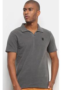 Camisa Polo Calvin Klein Estonada Despojada Masculina - Masculino-Chumbo