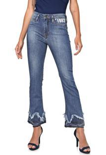 Calça Jeans Carmim Bootcut Siria Azul