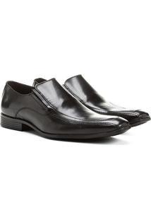 Sapato Social Shoestock Couro - Masculino-Preto