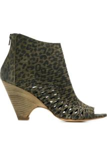 Strategia Ankle Boot Com Recorte - Verde