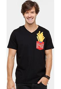 Camiseta Colcci Gola French Fries Masculina - Masculino