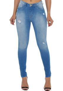 71edf2d30 ... Calça Jeans Eventual Mid Rise Skinny Azul