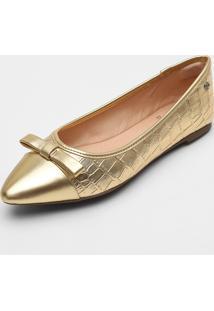 Sapatilha Dumond Metalizada Dourada