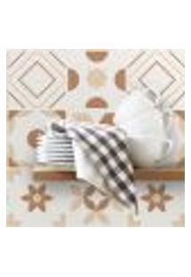 Adesivo De Azulejo 10X10 Para Cozinha Marrom Mocha