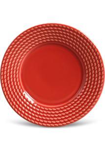 Jogo De Pratos De Sobremesa Porto Brasil 6 Peã§As Olimpia Vermelho - Vermelho - Dafiti
