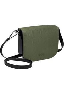 Bolsa Essential Shoulder Bag Snake Melissa Feminina - Feminino-Preto+Verde