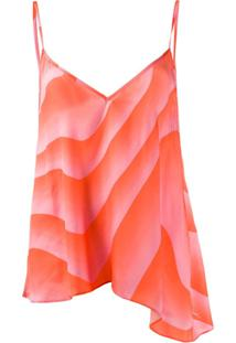 Just Cavalli Blusa Com Estampa Abstrata - Laranja