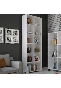 Estante Para Livros A1 Bb Branco Brilho - Dalla Costa