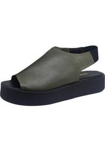 Sandália S2 Shoes Plataforma Verde