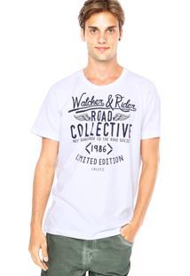 Camiseta Colcci Slim Road Branca