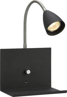 Arandela Lamp Show Usb Preta - Kanui