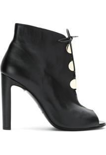 Emporio Armani Ankle Boot Com Amarração - Preto