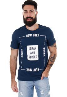 Camiseta Street Masculina Km - Marinho