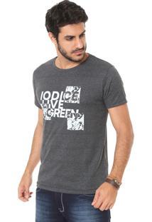 Camiseta Iódice Estampada Grafite