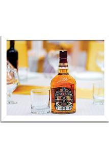 Quadro Decorativo Whisky Chivas Regal Branco - Médio