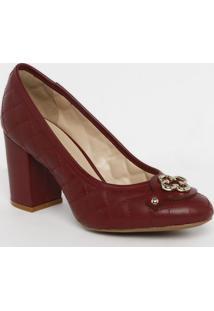 Sapato Tradicional Em Couro Matelass㪠- Bordã´- Saltocapodarte