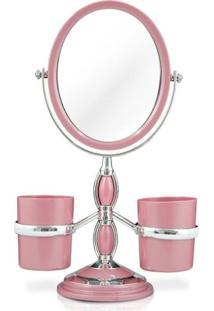 Espelho Jacki Design Bancada Suportes Laterais Awa16125-Rs Rosa Unico