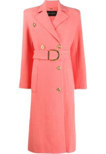 Versace Trench Coat Com Cinto - Rosa