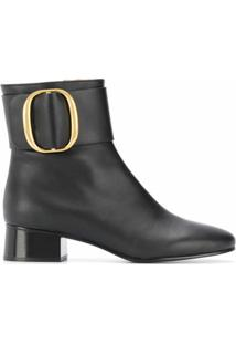 See By Chloé Ankle Boot Com Fivela Lateral - Preto