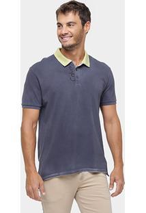 Camisa Polo Calvin Klein Piquet Estonada Logo - Masculino