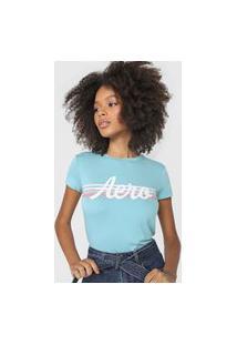 Camiseta Aeropostale Stripes Azul
