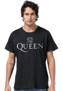 Camiseta Bandup! Queen Logo Black - Masculino-Preto
