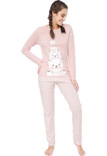 Pijama Laibel Urso Rosa
