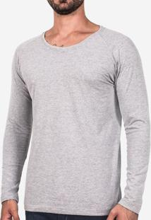 Camiseta Raglan Manga Longa Mescla 102765