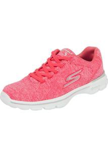 Tênis Skechers Go Walk 3 Stretch Rosa